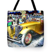 Psychedelic 1930 Jaguar Ss1 At London Classic Car Show 2015 Tote Bag