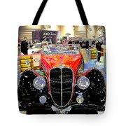 Psychedelic 1947 Delahaye 135m Letourner Et Marchand Cabriolet Tote Bag