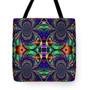 Psychedelic Abstract Kaleidoscope Tote Bag