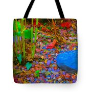Psychedelic Autumn Rocks Tote Bag