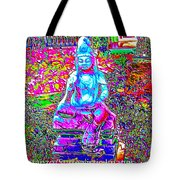 Psychedelic Buddha Tote Bag