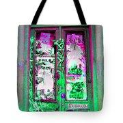 Psychedelic Door Tote Bag