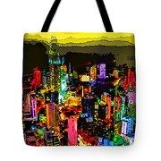 Psychedelic  Dubai Art Tote Bag