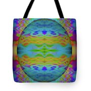 Psychedelic Egg Groovy Tote Bag