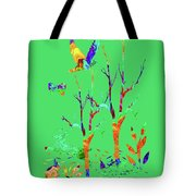 Psychedelic Forest Tote Bag