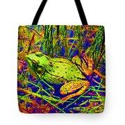 Psychedelic Frog  Tote Bag