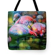 Psychedelic Ibis Tote Bag