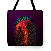 Psychedelic Jellyfish Tote Bag