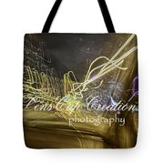 Psychedelic Lights On Slow Speed Tote Bag