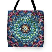 Psychedelic Mandala Tote Bag