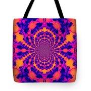Psychedelic Mandelbrot Set  Kaleidoscope Tote Bag