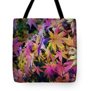 Psychedelic Maple Tote Bag