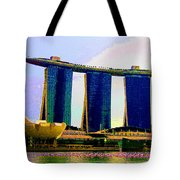 Psychedelic Marina Bay Sands Hotel Singapore Tote Bag