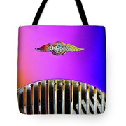 Psychedelic Morgan 4/4 Badge And Radiator Tote Bag
