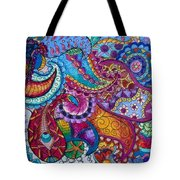 Psychedelic Paisley Tote Bag