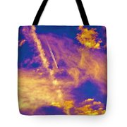 Psychedelic Skys Tote Bag