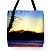 Psychedelic Sunrise On The Delaware River Tote Bag