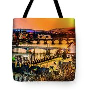 Psychedelic Sunset Art Tote Bag