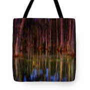 Psychedelic Swamp Trees Tote Bag