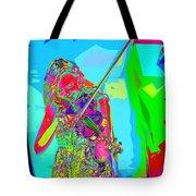 Psychedelic Violinist Tote Bag