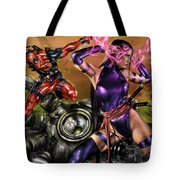 Psylocke And Deadpool Tote Bag