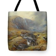 Ptarmigan Danger Aloft By Thorburn Tote Bag