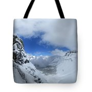 Ptarmigan Pass Tunnel North - Glacier National Park Tote Bag