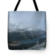 Ptarmigan Trail Overlooking Elizabeth Lake 3 - Glacier National Park Tote Bag