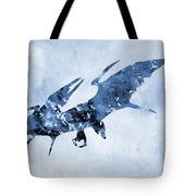 Pterodactyl-blue Tote Bag
