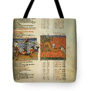 Ptolemy: Almagest, 1490 Tote Bag