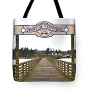 Public Fishing Pier Tote Bag