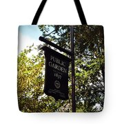 Public Garden 1837 Boston Tote Bag