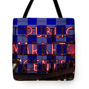 Public Market Checkerboard Tote Bag