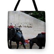 Public Memorial Honoring Military Animals In War London England Tote Bag