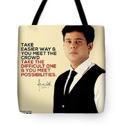 Public Speaker In India Tote Bag