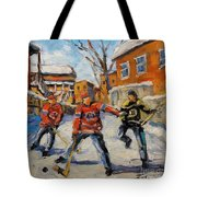Puck Control Hockey Kids Created By Prankearts Tote Bag