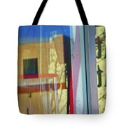 Pueblo Downtown Reflection With Flag Tote Bag