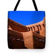 Pueblo Revival Style Architecture In Santa Fe Tote Bag