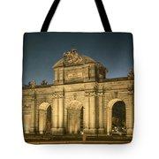 Puerta De Alcala Night Tote Bag