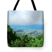 Puerto Plata Mountain View Of The Sea Tote Bag