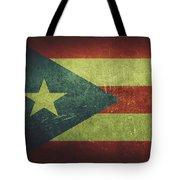 Puerto Rico Distressed Flag Dehner Tote Bag