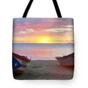 Puerto Rico Sunset On The Beach Tote Bag