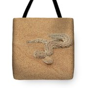 Puff Adder Snake Tote Bag