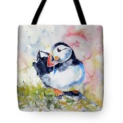 Puffin On Stone Tote Bag
