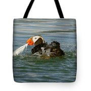 Puffin With A Prize Tote Bag