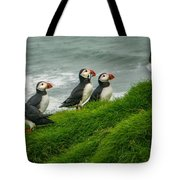Puffins Returning From Fishing Tote Bag