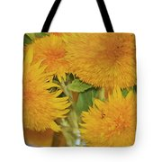 Puffy Golden Delight Tote Bag