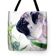 Pug And Nature Tote Bag