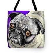 Olivia The Pug Tote Bag