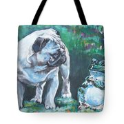 Pug Fawn With Frog Tote Bag